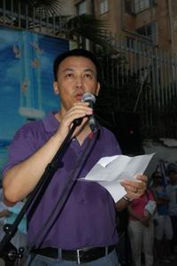 מתרגל פאלון גונג שראלי ממוצא סיני שאחותו הייתה עצורה שנתיים במחנה עבודה בכפייה בבייג'ינג משום שמסרה עלונים המספרים על השיטה (צילום: יאירה יסמין)