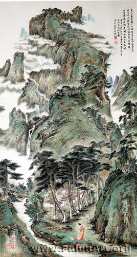 """""""יפהפייה מגיעה מהמערב"""" – צויר בטכניקת ציור סיני על-ידי צ'ן ג'ולי"""