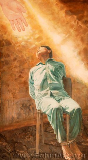 """""""אומץ ללא פשרות"""" הציירת: קתלין גיליס"""