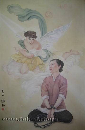 """""""אמונה ללא כבלים"""" – הציירת: אמי פאן"""