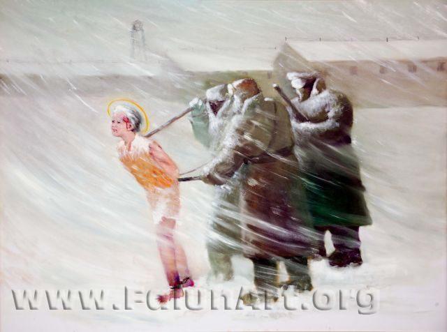"""סיפור אמיתי: """"רוח בלתי מתפשרת"""" מאת יאו צ'ונג-צ'י, ציור שמן על בד (2004)"""